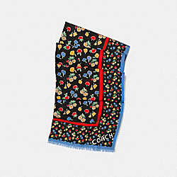 DAISY FIELD OBLONG - f56246 - BLUE/CREAM