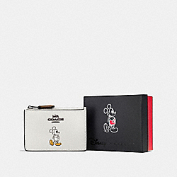 BOXED MICKEY MINI SKINNY ID CASE - DK/CHALK - COACH F56265