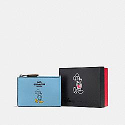 BOXED MICKEY MINI SKINNY ID CASE - DK/BLUEJAY - COACH F56265