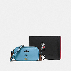 BOXED CROSSBODY POUCH WITH MICKEY - DK/BLUEJAY - COACH F56268