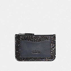 ZIP TOP CARD CASE - RAINBOW MULTI/BLACK ANTIQUE NICKEL - COACH F56279