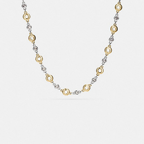 COACH f56412 OPEN CIRCLE NECKLACE GOLD/SILVER ROSEGOLD