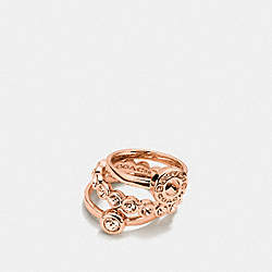 OPEN CIRCLE RING SET - f56418 - ROSEGOLD