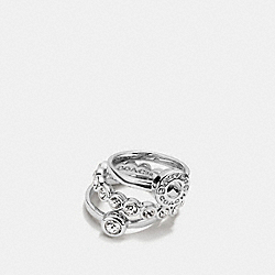 OPEN CIRCLE RING SET - SILVER - COACH F56418
