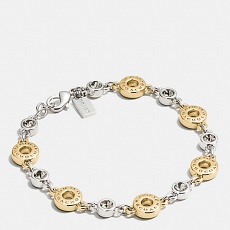 COACH OPEN CIRCLE BRACELET - GOLD/SILVER ROSEGOLD - f56419