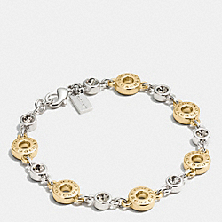 OPEN CIRCLE BRACELET - f56419 - GOLD/SILVER ROSEGOLD