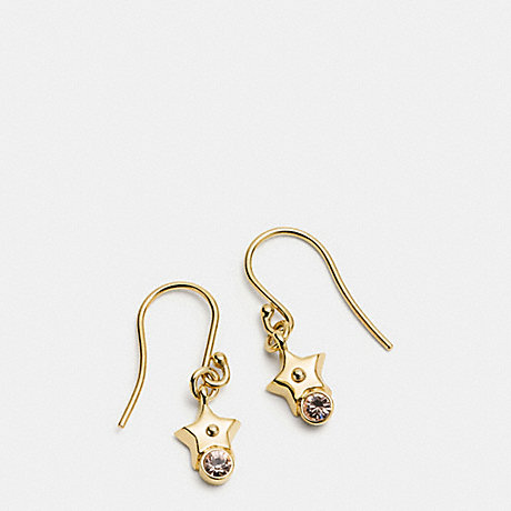 COACH STAR EARRING ON WIRE - GOLD - f56423