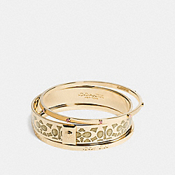 COACH BOXED SIGNATURE BANGLE SET - GOLD - F56439