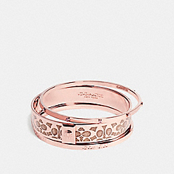 BOXED SIGNATURE BANGLE SET - ROSEGOLD - COACH F56439