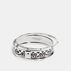 BOXED SIGNATURE BANGLE SET - SILVER/BLACK - COACH F56439