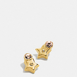 COACH STAR AND STONE STUD EARRINGS - GOLD - F56634