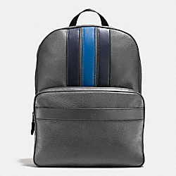 BOND BACKPACK IN PEBBLE LEATHER - f56667 - GRAPHITE/MIDNIGHT NAVY/DENIM