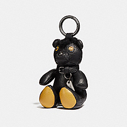 FUZZ BEAR BAG CHARM - BLACK/BLACK - COACH F56745