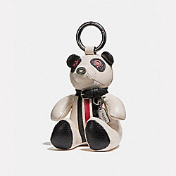 ROCKY BEAR BAG CHARM - BLACK/CHALK - COACH F56749