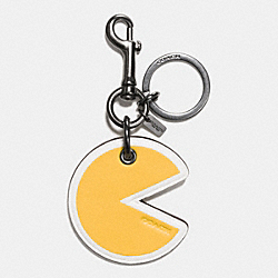 COACH PAC MAN BAG CHARM - BLACK/YELLOW - F56751