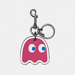 COACH GHOST BAG CHARM - BK/PINK - F56752