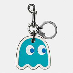 COACH GHOST BAG CHARM - BLACK/TURQUOISE - F56752