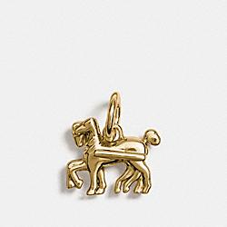 HORSE CHARM - GOLD - COACH F56767