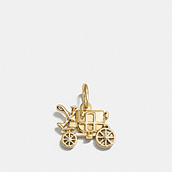 CARRIAGE CHARM - f56768 - GOLD