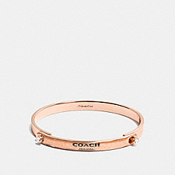 GLITTER COACH STONE TENSION BANGLE - ROSEGOLD - COACH F56783