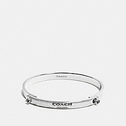 COACH GLITTER COACH STONE TENSION BANGLE - SILVER/BLACK - F56783