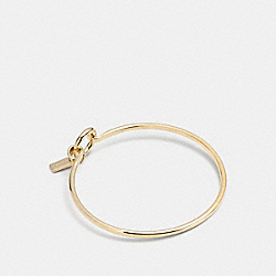 CHARM BASE HINGED HOOP BANGLE - GOLD - COACH F56786