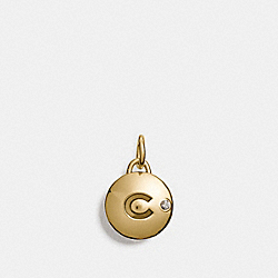 COACH C DISC CHARM - f56803 - GOLD
