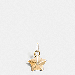 FACETED STAR CHARM - GOLD - COACH F56804