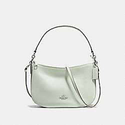 CHELSEA CROSSBODY - SILVER/PALE GREEN - COACH F56819