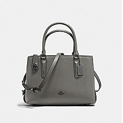 BROOKLYN CARRYALL 28 - HEATHER GREY/DARK GUNMETAL - COACH F56839