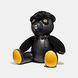 COACH SMALL FUZZ BEAR - BLACK - F56843
