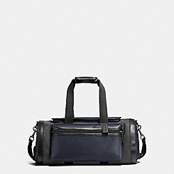 TERRAIN GYM BAG IN PERFORATED MIXED MATERIALS - MIDNIGHT NAVY/GRAPHITE - COACH F56875