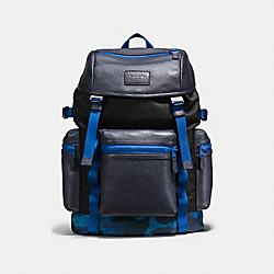COACH TERRAIN TREK PACK 42 IN TECH NYLON - BLUE CAMO - F56876