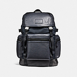 COACH TERRAIN TREK PACK 42 - BLACK ANTIQUE NICKEL/MIDNIGHT NAVY/GRAPHITE - F56876