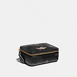 TRIPLE PILL BOX WITH VINTAGE PRAIRIE PRINT - BLACK/MULTI/IMITATION GOLD - COACH F57094