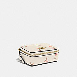 TRIPLE PILL BOX WITH VINTAGE PRAIRIE PRINT - CHALK MULTI/IMITATION GOLD - COACH F57094