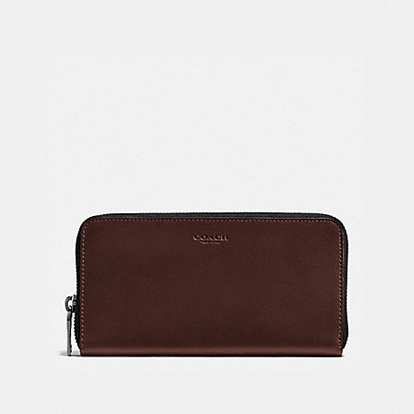 COACH ACCORDION WALLET - MAHOGANY - F57098