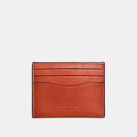 COACH CARD CASE - DEEP ORANGE - F57101
