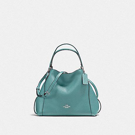 COACH EDIE SHOULDER BAG 28 - SILVER/MARINE - f57124