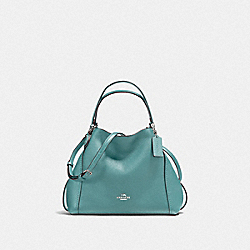 EDIE SHOULDER BAG 28 - SILVER/MARINE - COACH F57124