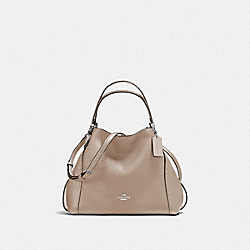 EDIE SHOULDER BAG 28 - SILVER/STONE - COACH F57124