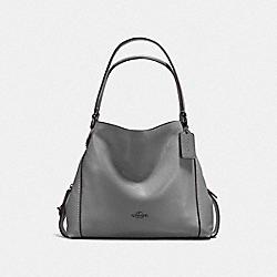 EDIE SHOULDER BAG 31 - DK/HEATHER GREY - COACH F57125