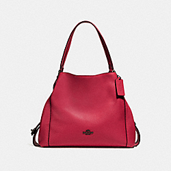 EDIE SHOULDER BAG 31 - DK/WASHED RED - COACH F57125
