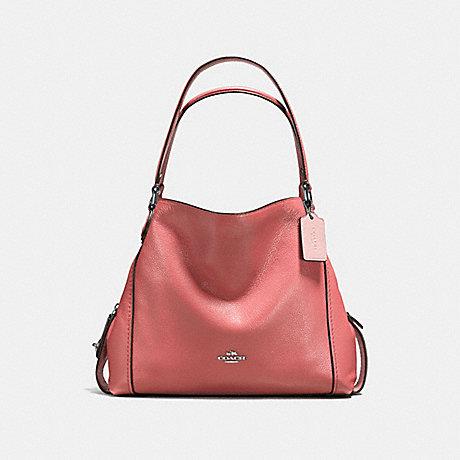 COACH EDIE SHOULDER BAG 31 - SV/BRIGHT CORAL - F57125
