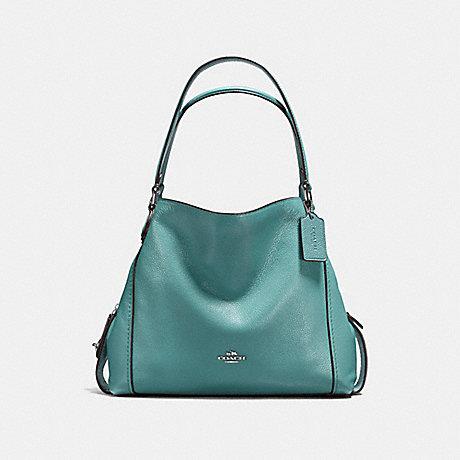 COACH EDIE SHOULDER BAG 31 - SILVER/MARINE - f57125