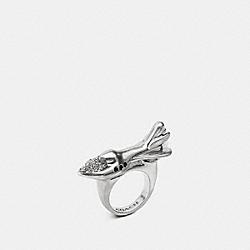 COACH ROCKET RING - SILVER - F57189