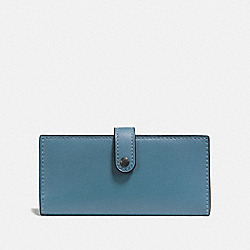SLIM TRIFOLD WALLET - CHAMBRAY/BLACK COPPER - COACH F57197
