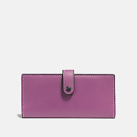 COACH SLIM TRIFOLD WALLET - PRIMROSE/BLACK COPPER - F57197