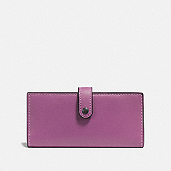 SLIM TRIFOLD WALLET - PRIMROSE/BLACK COPPER - COACH F57197
