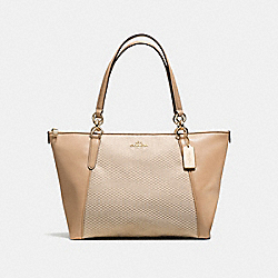 AVA TOTE - MILK/BEECHWOOD/LIGHT GOLD - COACH F57246